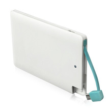 Wholesale Credit Card Power Bank 2600mah Ultra Slim With USB Cable For Smart Mobile Power Supply