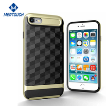for iphone 7 case Slim Dual Layer Protective Textured Geometric Cover Corner Cushion Design mobile phone cover for iphone 7 4.7""