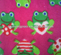 The frog coral fleece fabric
