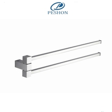 Manufacturer supplier high quality zinc alloy wall mounted swivel towel bar