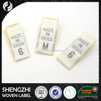 Wholesale custom private design textile woven size tags
