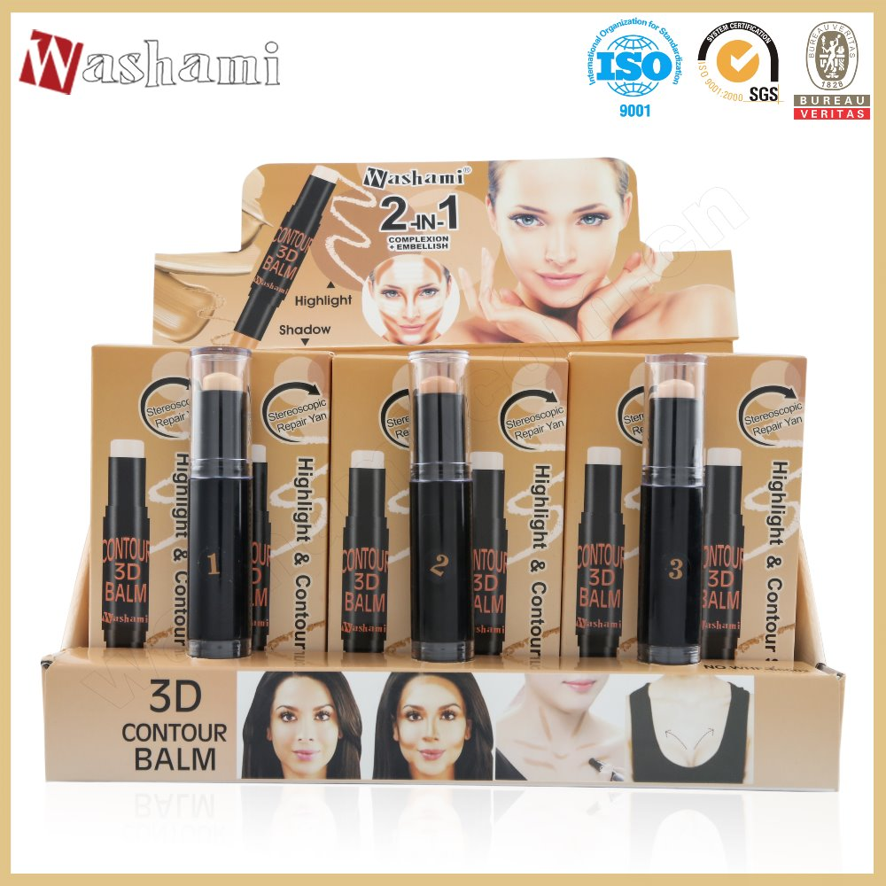 Washami Private Label Perfect Concealer Stick Best Foundation Makeup Contour Concealer Pen With Highlighter