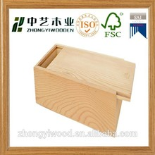 New design custom engraved logo sliding lid candy cake wooden food packing container box