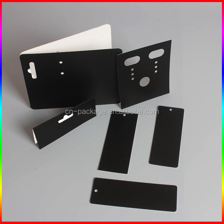 custom Jewelry black paper card/paper package