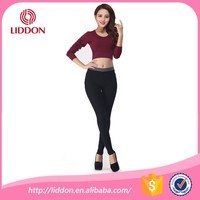 New year good quality slim women plain style winter long trousers wholesale