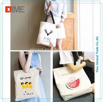 Promotion Coloured Drawing Literature and Art Fashion Cotton Shipping Tote Bags