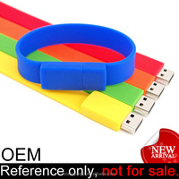 promotion cheap unique silicone bracelet USB computer accessories bracelet