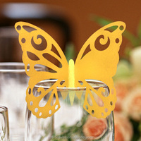 Party favor butterfly place cards for wine glass