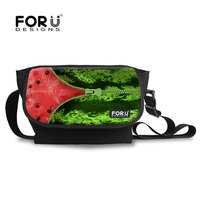 FOR U DESIGNS High Quality Nylon Printing Unzip Watermelon Peel Shoulder Bag