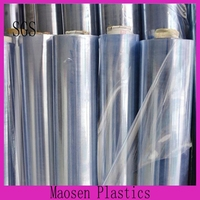 0.06-0.8mm calender Transparent self adhesive soft cling PVC plastic Film