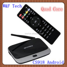 Best Google android 4.2 CS918 TV BOX HDMI Bluetooth WiFI XBMC Preinstalled android tv box atv