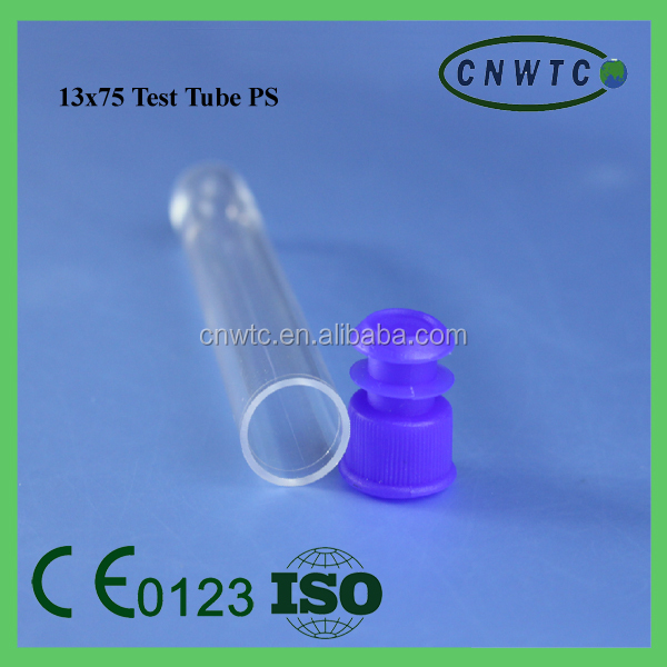 13*75mm plastic test tube with lid