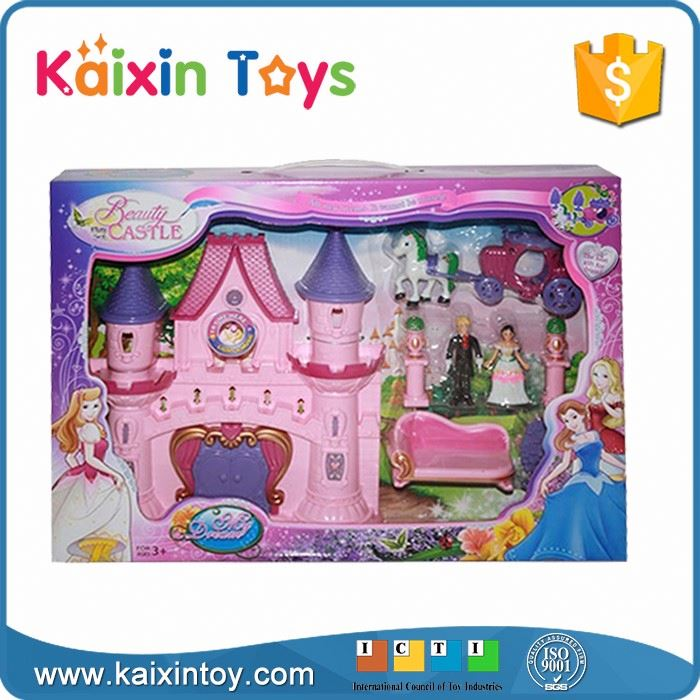 10241613 Hot Sale Fashion Girl Princess Castle With Light And Music