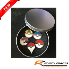 wholesale cheap price pokemon metal pin badge with gift box