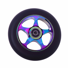 High End Metal Core Pro Scooter Wheel,High End Rainbow PU scooter alloy wheel,metal core balance scooter 2 wheel