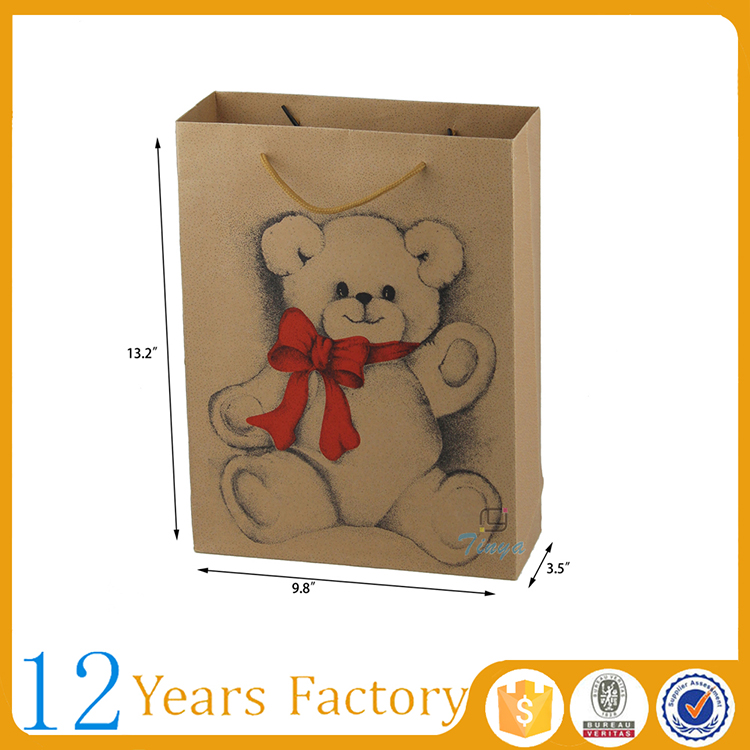 cmyk printed kids party custom kraft paper bag