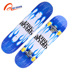 Economic and cheap 4 light up wheels cruiser maple skateboars from China