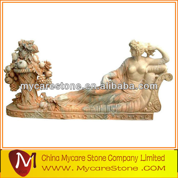 Classical and exquisite female marble statue