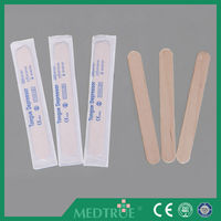 CE/ISO Approved Disposable Wooden Tongue Depressor, Adult Size (MT58070004)