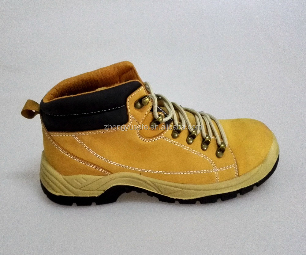 Yellow cow leather brand woodland safety shoes,safety footwear