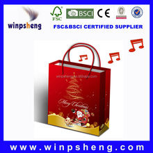 Music Paper Gift Bag With Custom Sound and Design