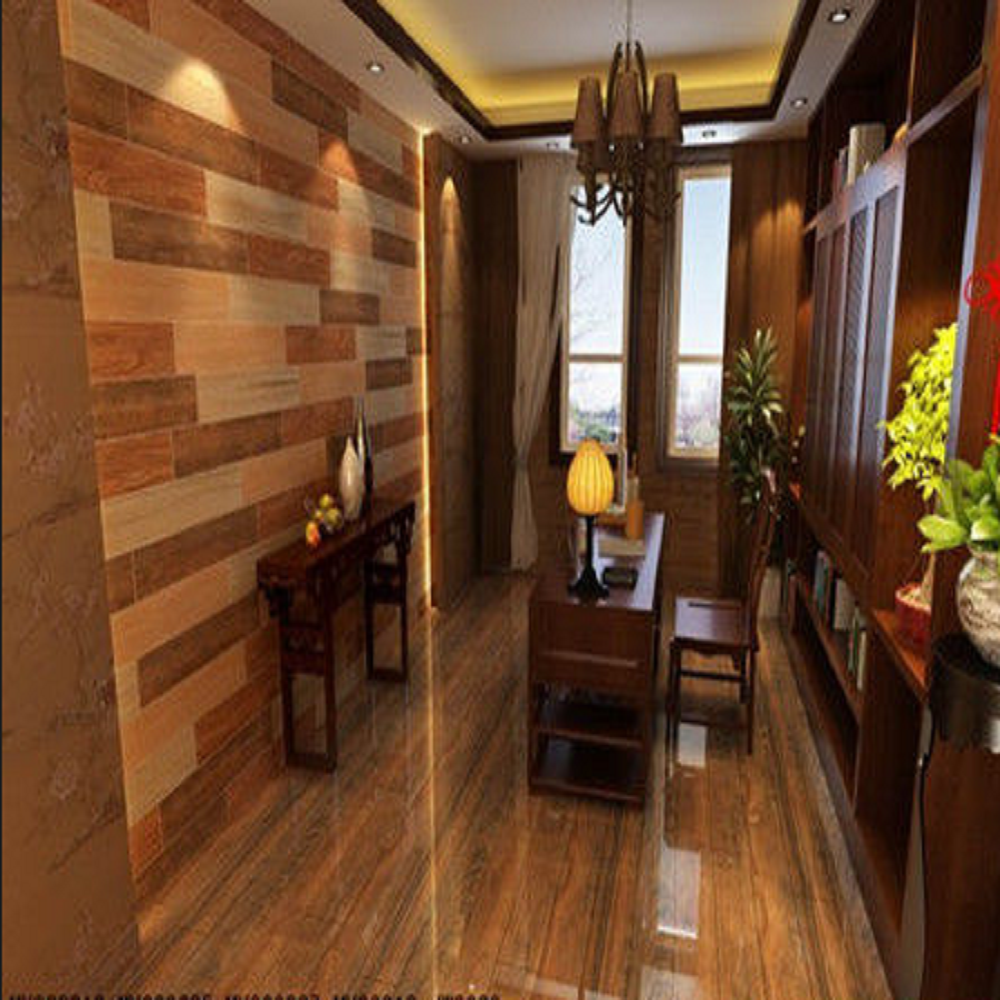 popular lately Wood Pattern Clear Plastic Flooring Tile