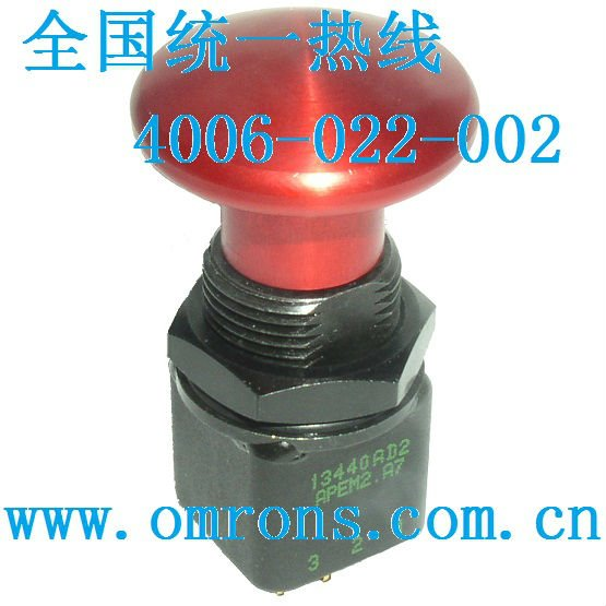 Apem2 momentary pushbutton switch 13440AD2 APEM5 UL CECC approved push button