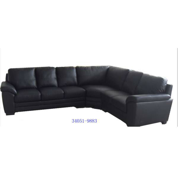34051-9883 Black Split Leather/PVC
