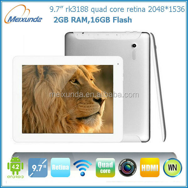 9.7 inch Retina IPS Quad Core RK3188 mid android retina 2048 1536 tablet pc