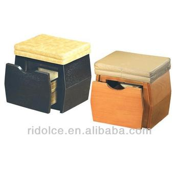 Wood stool potable nail stool chair beauty supplies nails for Nail salon equipment and supplies