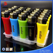 China windproof gas lighter with custom logo manufacturer supply directly