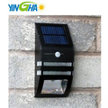 stainless wall-mounted led solar security wall light with PIR sensor