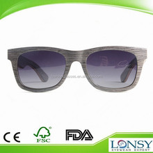 disposable eye glasses,wooden veneer sunglasses with smoke polarized lens