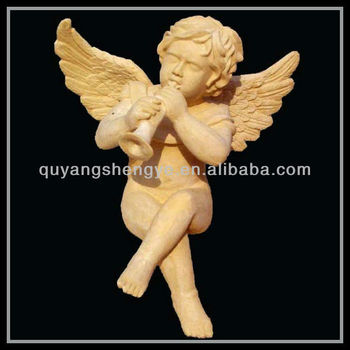beautiful statue of little angel for garden