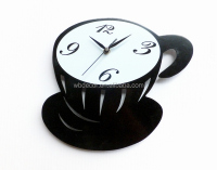 Black Coffee Cup Kitchen wall clock