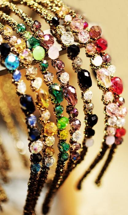 New Women Fashion Exquisite Crystal Rhinestone Barrette Hair Band Hair Accessory