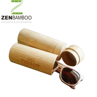 High end sunglasses packaging box bamboo, custom made tube glasses box wholesale