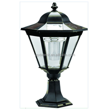 Antique style Hexagonal with Sharp Top Solar Courtyard Street Outdoor Stigma Garden Light,Soalr Pillar Lights