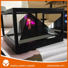holographic display 3d pyramid for show