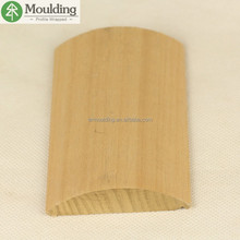 Custom easy shape American yellow poplar crown moulding