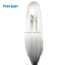 Wholesale Cheap Synthetic Long Straight White Gray Cosplay Party Wigs Anime For Sex Women Female Natural Hair Wigs Fake Hair