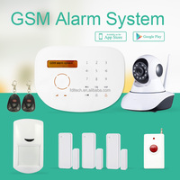 FDL-WFK9G GSM SMS alarm New Motion Sensor PIR Gate Wireless Home Alarm with 2 Remote Controls