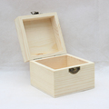 Wood factory handmade FSC natural color pine hinged wooden box