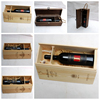 wooden wine gift package box with laser engraving hot stamp logo for chateau hot selling