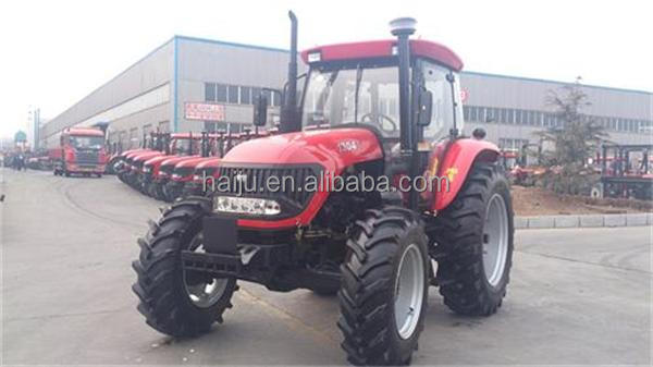 China cheap Farm Tractor 130hp 4wd with attachment plow, front loader