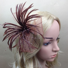 Elegant Brown Feather Fascinator for Lady Decoration