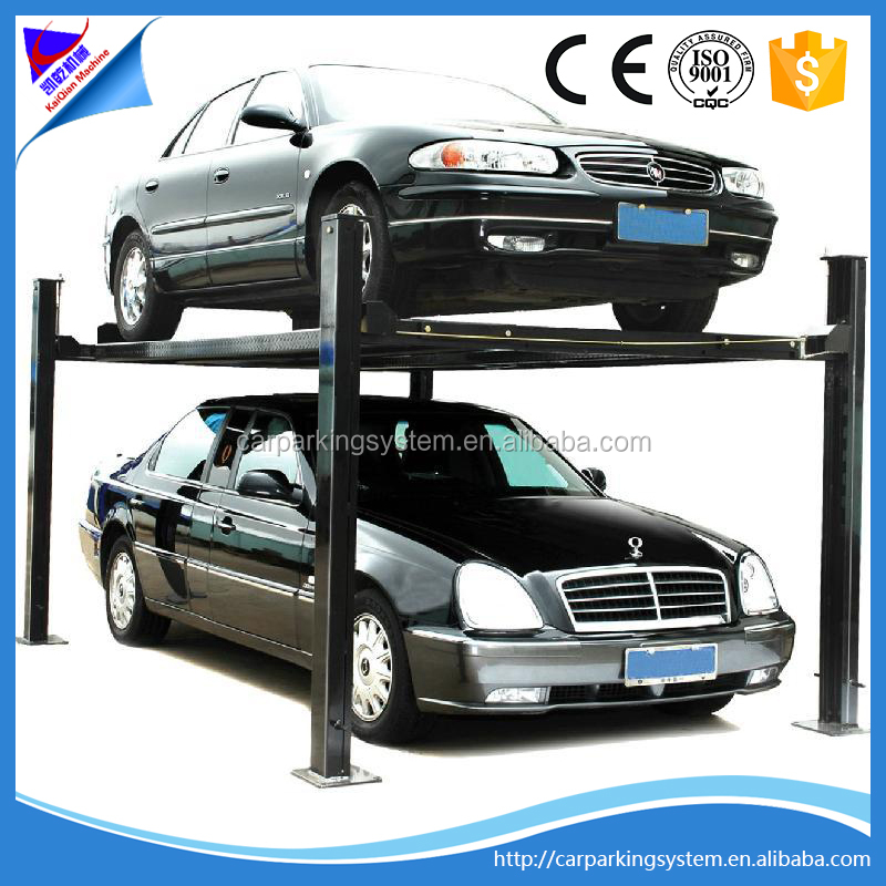 Mini Tilting Car Lift Elevator Parking System 4 Post Easy Parking Lifts
