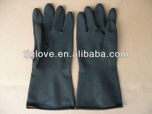 120g Black Industrial Latex Glove/latex glove