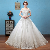 WTY05 Elegant Flowers Lace Princess Wedding Dress 2018 Vintage Bridal Gown Robe De Mariage Plus Size