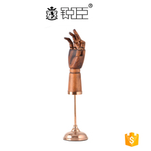 Wooden mannequin hand model jewelry display stand
